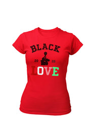 Black Greek Love Women's Fitted Shirt