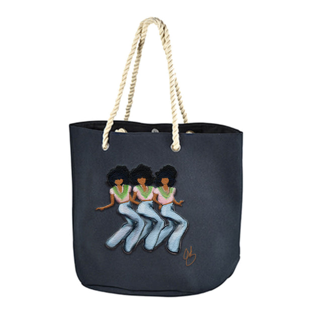 New! Deluxe Hand Painted Canvas Body Tote Bag