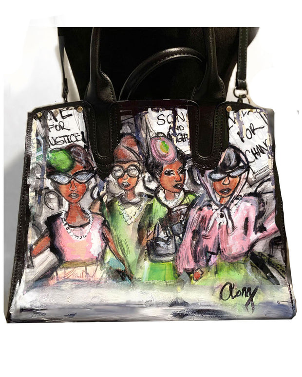 IVIES FOR CHANGE™ Hand Painted Satchel