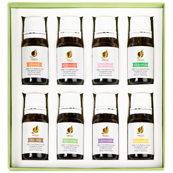 Essential Oils Set - Pack of 8 - Heppi