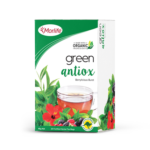 Green Antiox Tea - Morlife - 25 Tea Bags