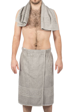Herren Sauna-Set «King» Oxford grau