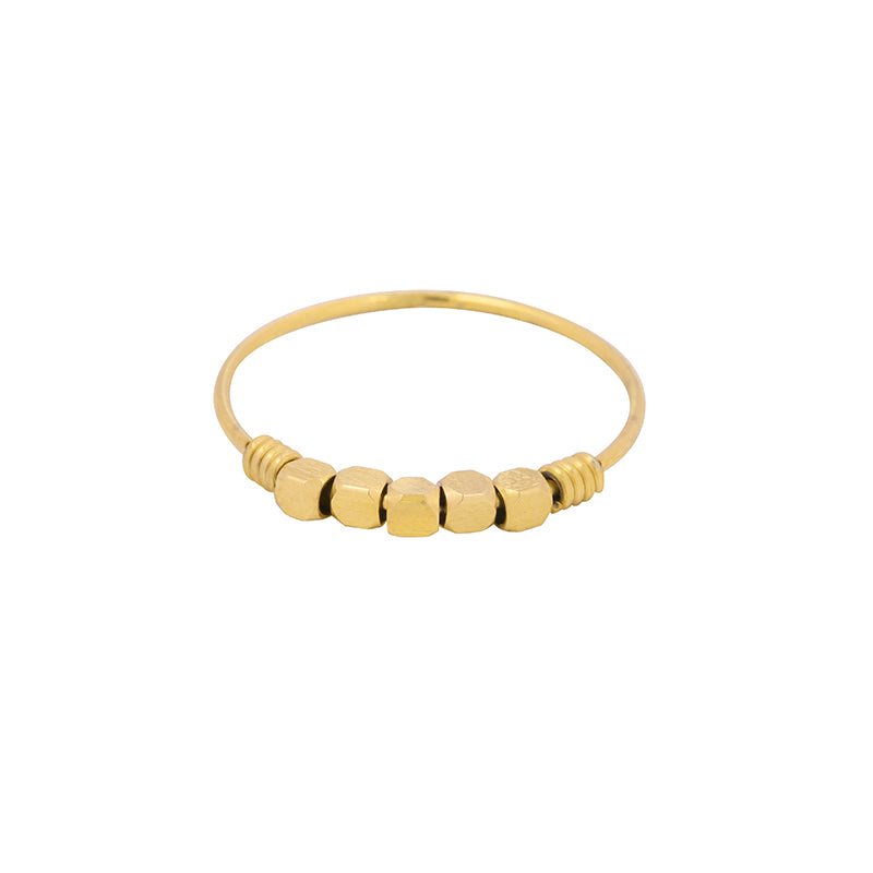 Cubes Ring Goldplated