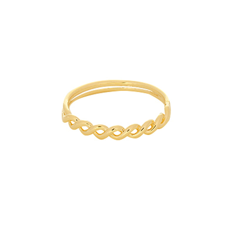 Into the Waves Ring Goldplated