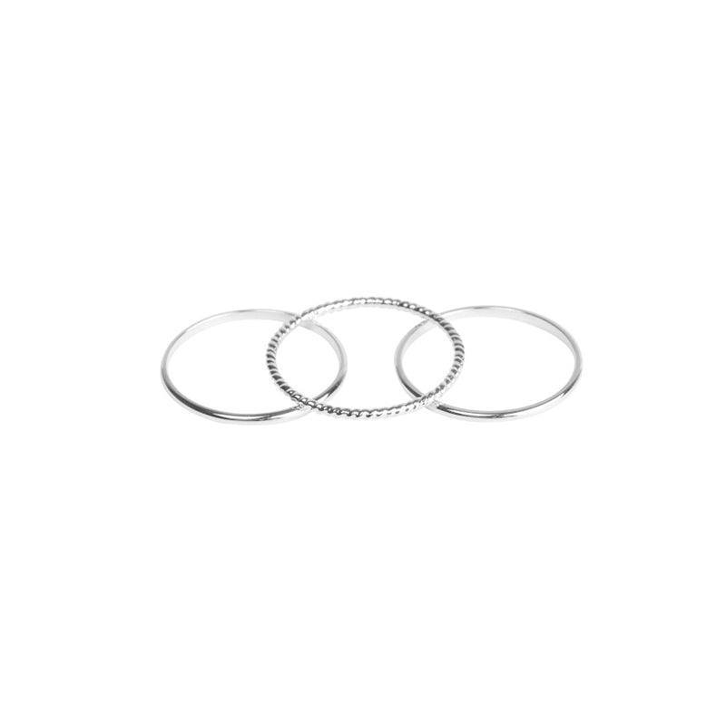 Three of a Kind Rings Silver