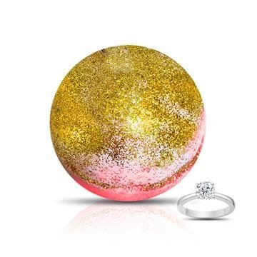 GOLD RUSH Ring Bath Bomb by Soapie shoppe