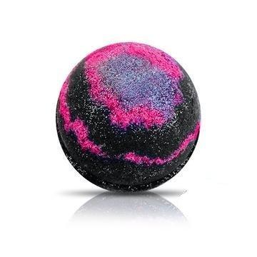 GALAXY Bath Bomb by Soapie Shoppe/ Turns water B L A C K with silver stars!
