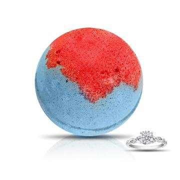 SUZIE Q Ring Bath Bomb/ (Champagne and Pomegranate Scent) by Soapie Shoppe