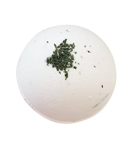 ORGANIC BATH BOMB/ Extra Large (8 oz.) No GMO, No Cruelty, Vegan,100 percent Essential Oils Only (Peppermint & Pine)