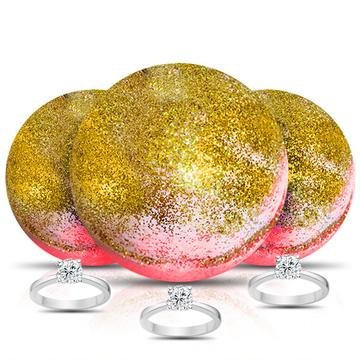GOLD RUSH Ring Bath Bomb 3 Pack