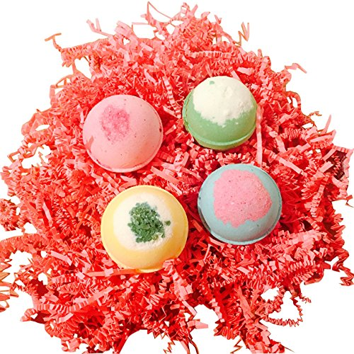 LUXURY FOR LESS! SOAPIE SHOPPE BEST VALUE BOX/ Birds in a Nest Bath Bomb Set/Set of 4 Bath Bombs in a Set
