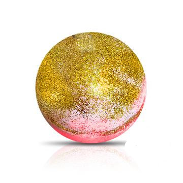 GOLD RUSH Bath Bomb by Soapie Shoppe Smells Amazing! Like DEEP BUTTERY ALMOND!