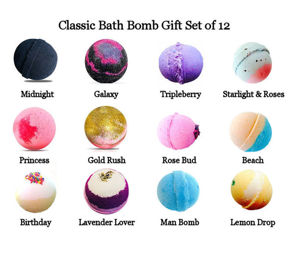 Classic Scented Wholesale Bulk Bath Bombs, 8 Ounces Each