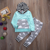 Cloudy 2pcs clothing set