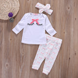 Trendy bow 3pcs clothing set