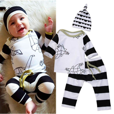 Striped long sleeve baby clothing set - BabyRebate