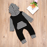 Striped long sleeve jumpsuit