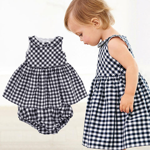 Black and white baby dress 2 pieces