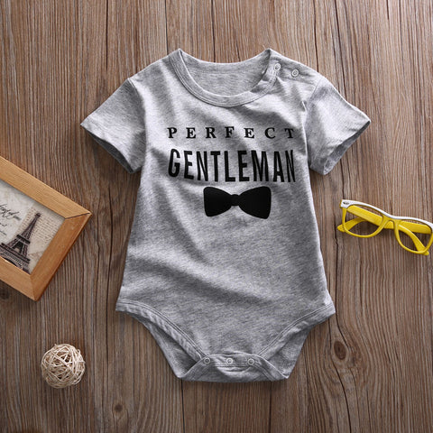 Perfect gentleman baby romper