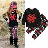 Snowflake 2 pieces clothing set