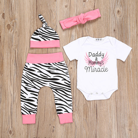 Miracle baby 4 pieces clothing set