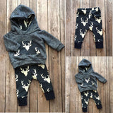 Warm deer 2 pieces clothing set