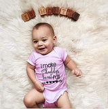 Love daddy baby romper