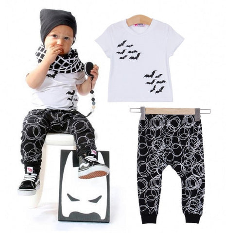 Fashion bat style baby boy clothing set - BabyRebate