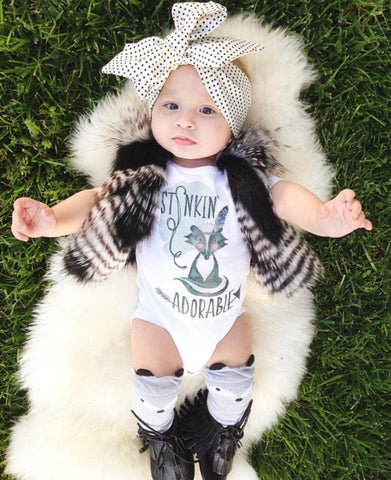 Stinkin' adorable baby romper