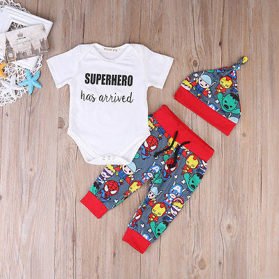 Superhero 3 pieces clothing set