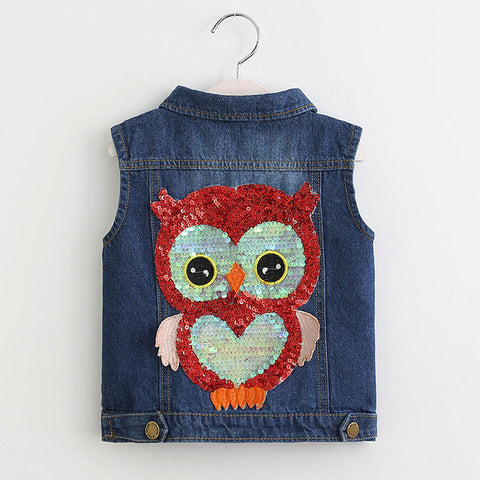 Owl sleeveless vest