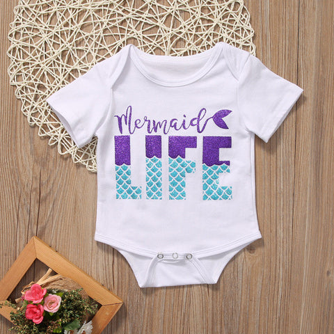 Mermaid life romper
