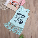 Sleeveless tassels fashion dress - BabyRebate
