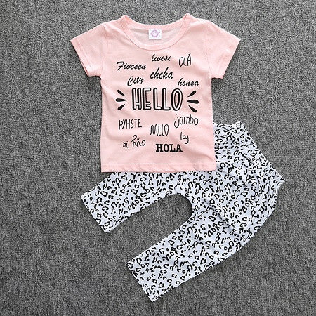 Hello baby girl clothing set - BabyRebate