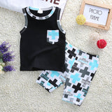 Summer beach style baby boy clothing set - BabyRebate