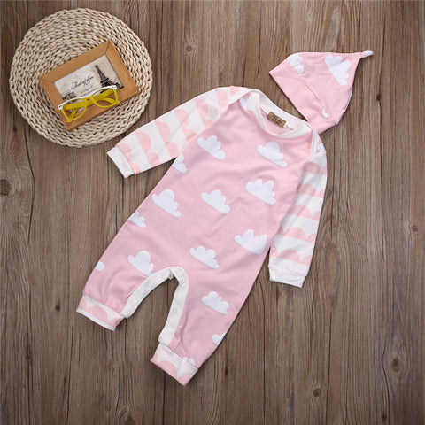 Cloudy baby girl jumpsuit - BabyRebate