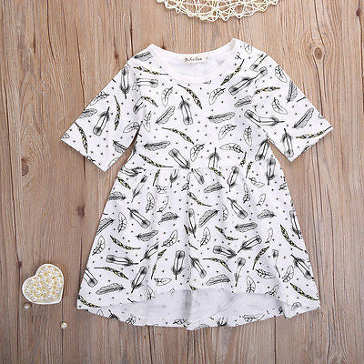 Feather baby girl dress - BabyRebate