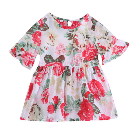 Floral baby girl dress - BabyRebate