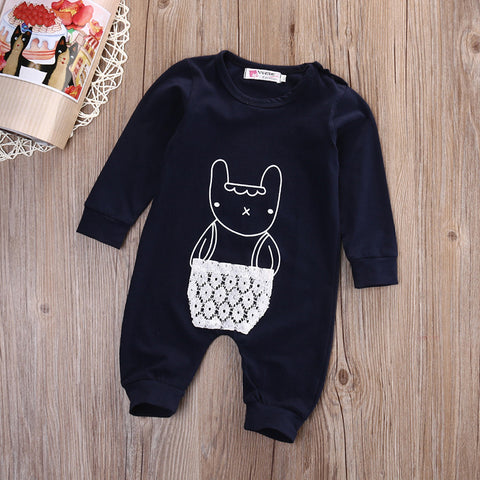 Cartoon long sleeve romper - BabyRebate