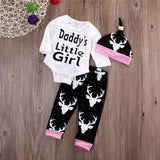 Daddy's little girl 3 pieces clothing set - BabyRebate