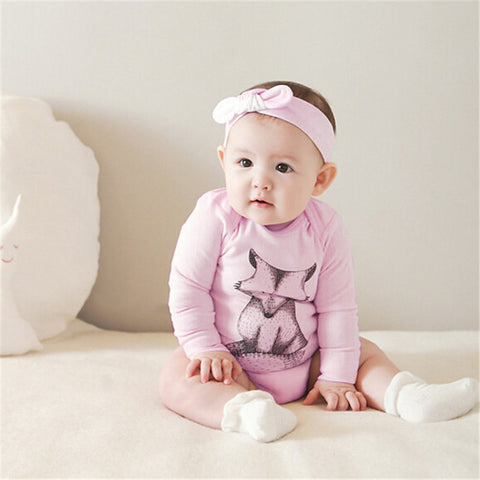 Fox long sleeve baby romper - BabyRebate