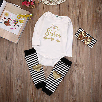 Romper Little Sister 3pcs - BabyRebate