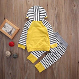 Yellow zebra stripes 2pcs clothing set