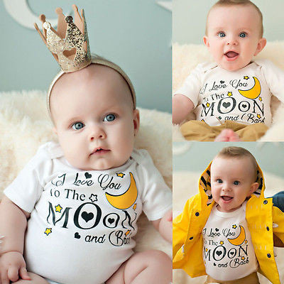 I love you to the moon baby romper