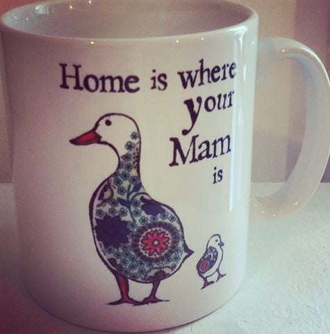 ‪'Home is where your Mam is' mug, a perfect gift for a Northern Mum! Flying out today!