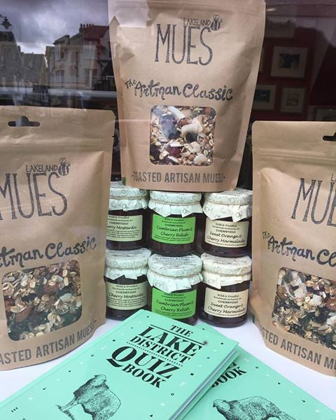 ‪Great additions in Cherrydidi, artisan muesli by Lakeland Mues, new Wild & Fruitful preserves & Lake District Quiz books!