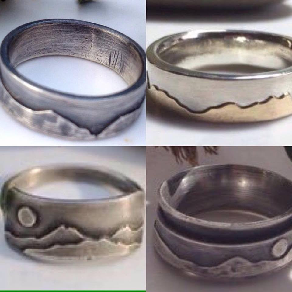 The mountain range collection of Cumbrian startup Brightstar109 is now her best selling range, well done Claire! Rings start at £35-£160
