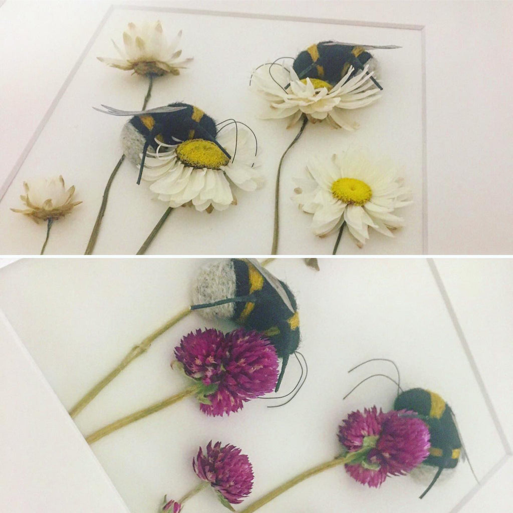 Needle felted bees!