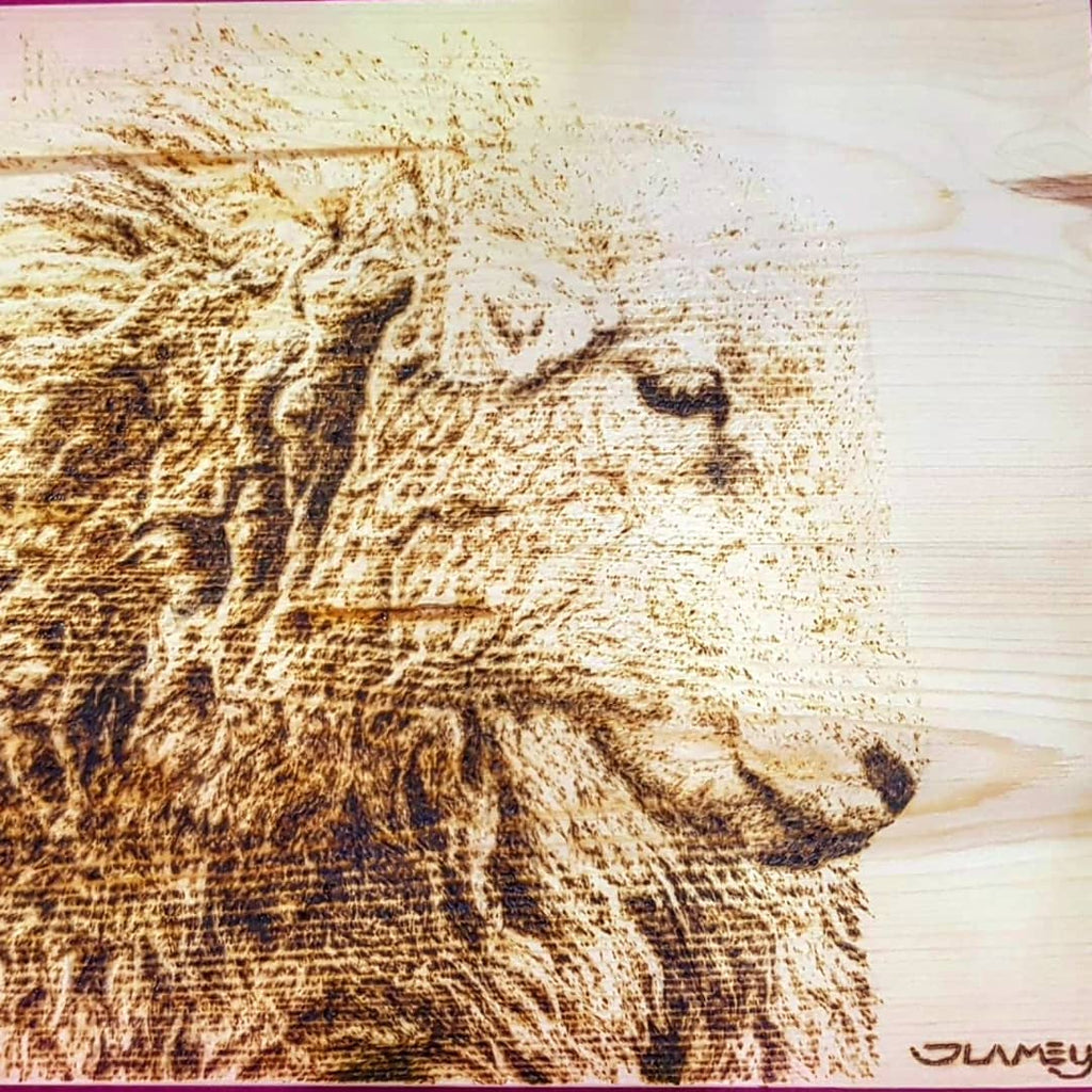 Stunning pyrography! SOLD!