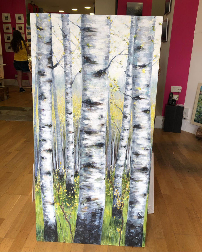 'A walk with birch trees' SOLD!